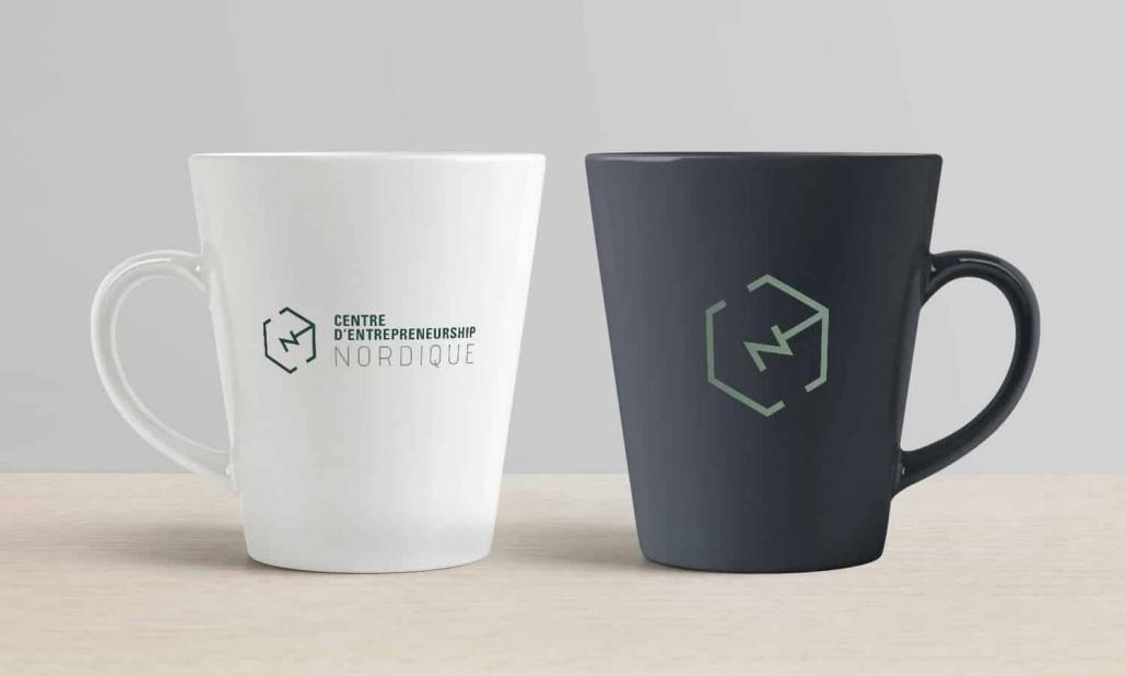 Image de marque CEN appliquée sur tasse