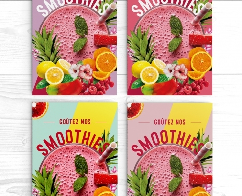 Bar à smoothies design graphique affiches